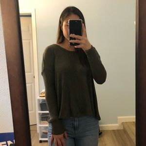 forest green thin sweater